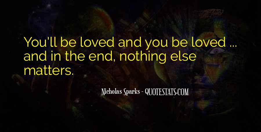 Quotes About What Matters In Love #299418