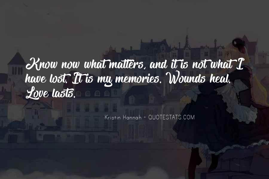 Quotes About What Matters In Love #312349