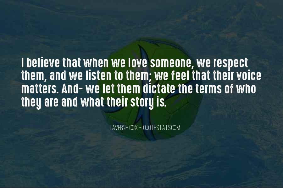 Quotes About What Matters In Love #377339