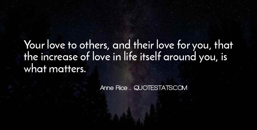 Quotes About What Matters In Love #383243