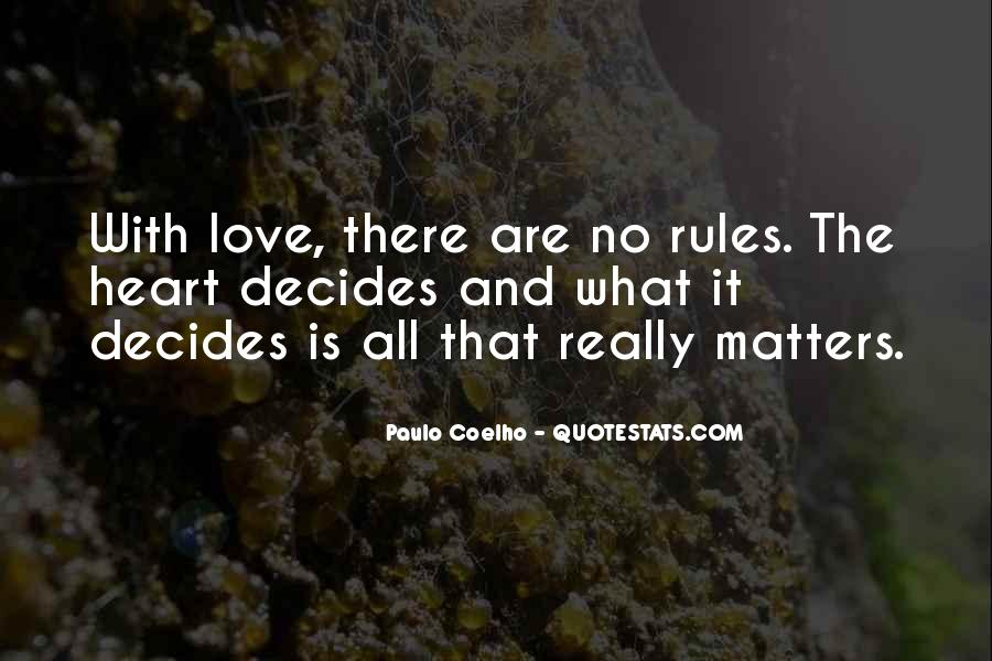 Quotes About What Matters In Love #92575