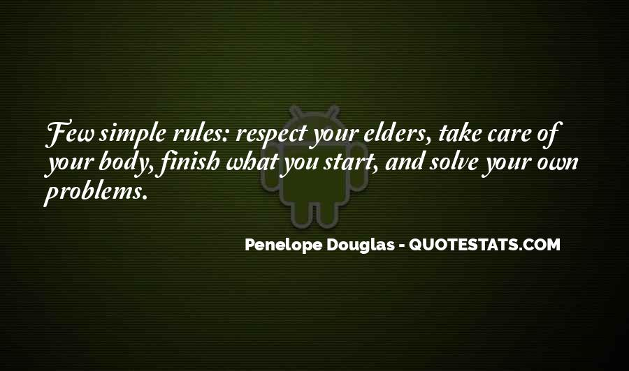 Quotes About Respect For Elders #1103815
