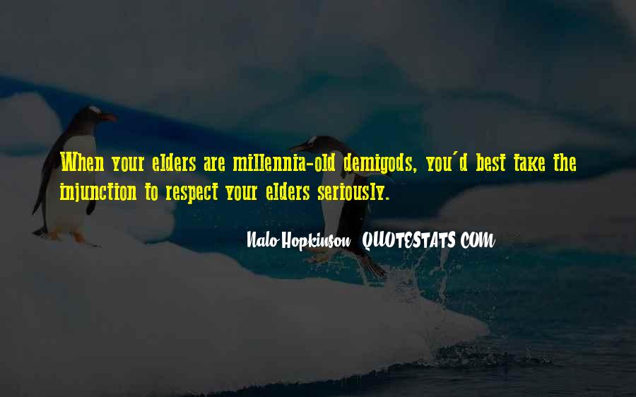 Quotes About Respect For Elders #93414