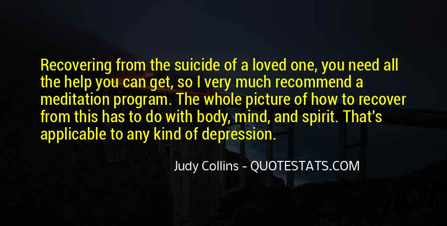 Quotes About Suicide And Depression #564697