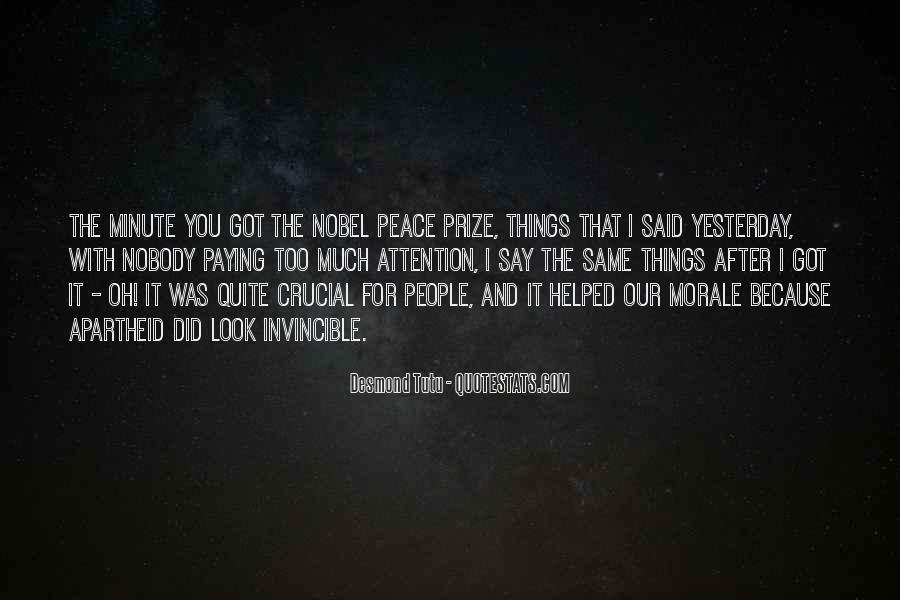 Quotes About Nobel Prize #243755