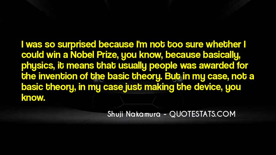 Quotes About Nobel Prize #588782