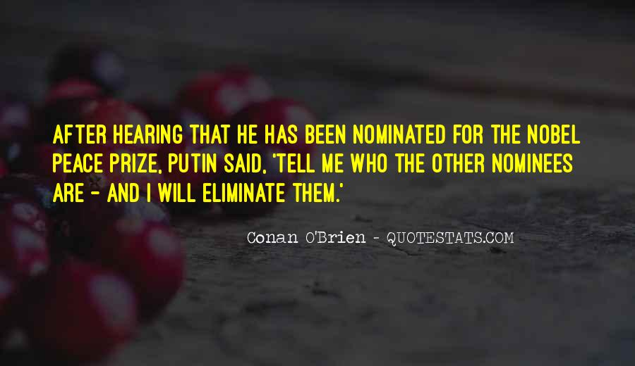 Quotes About Nobel Prize #588822
