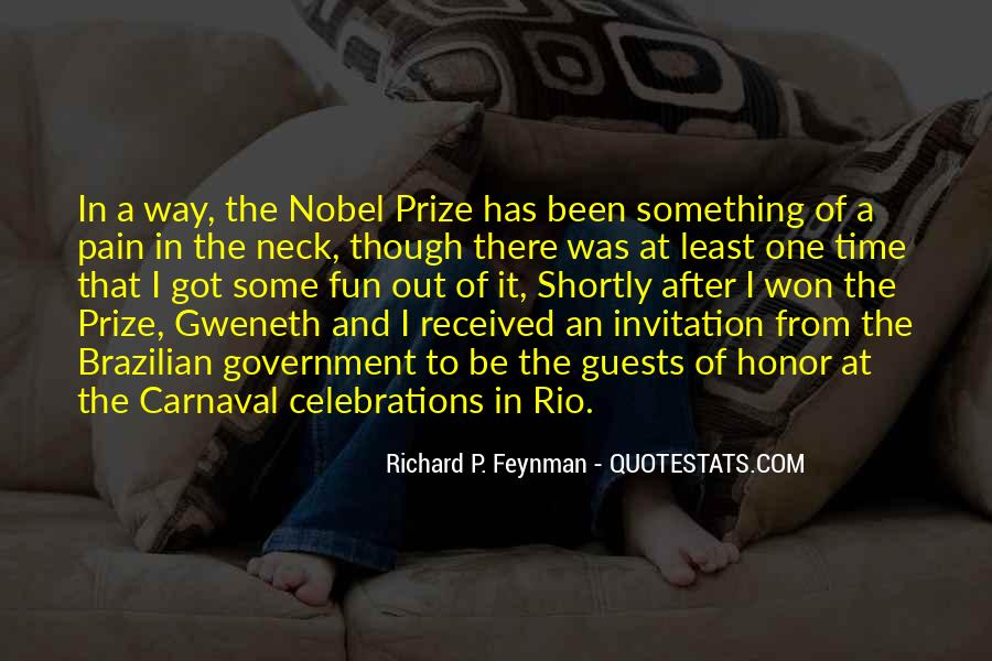 Quotes About Nobel Prize #698168