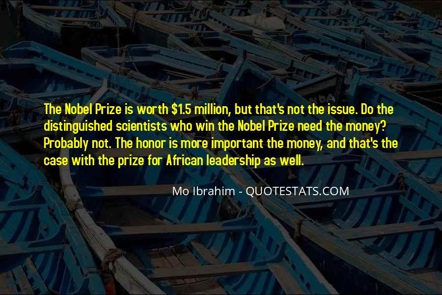 Quotes About Nobel Prize #83482