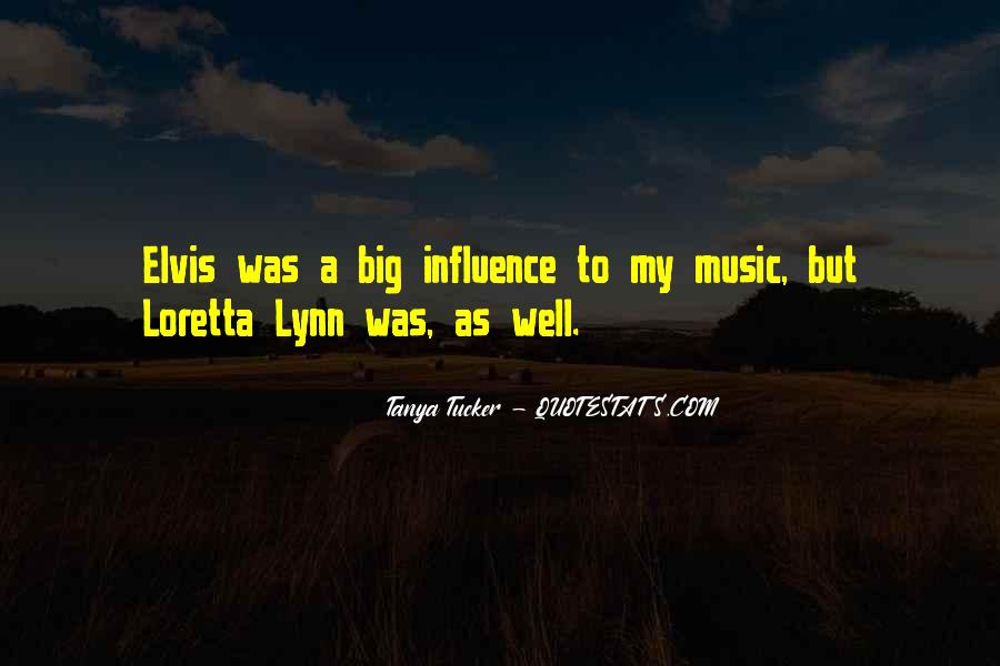 Quotes About Elvis Influence #1603782