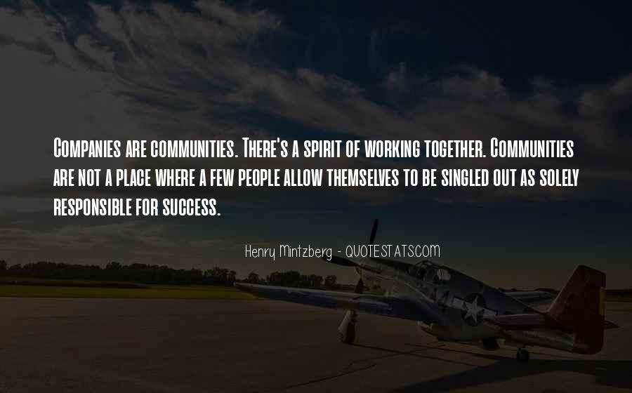 Quotes About Communities Working Together #1274896