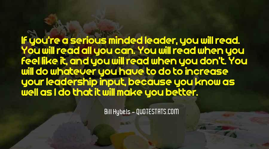 Quotes About Reading And Leadership #144444