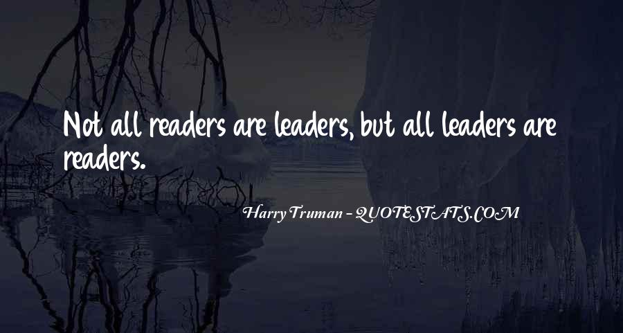 Quotes About Reading And Leadership #540925