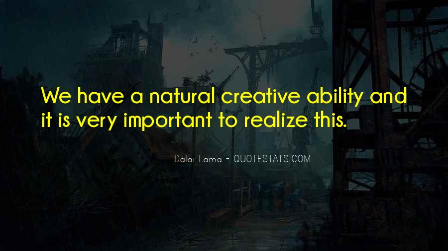 Quotes About Natural Ability #1253348