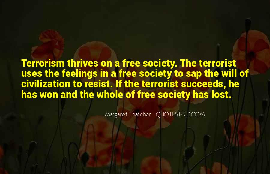 Quotes About Terrorism #48719