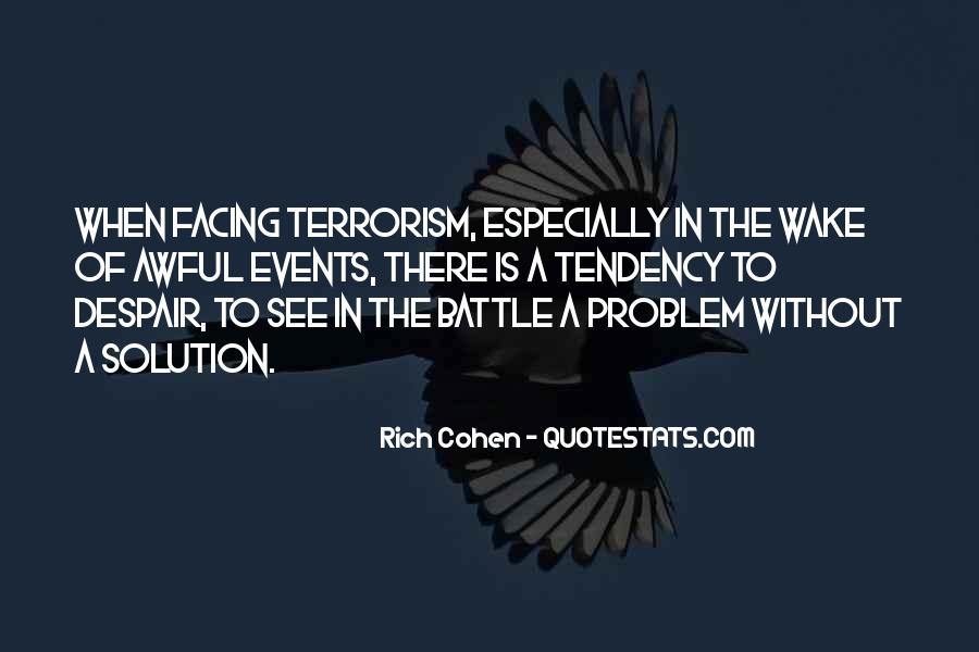 Quotes About Terrorism #83684
