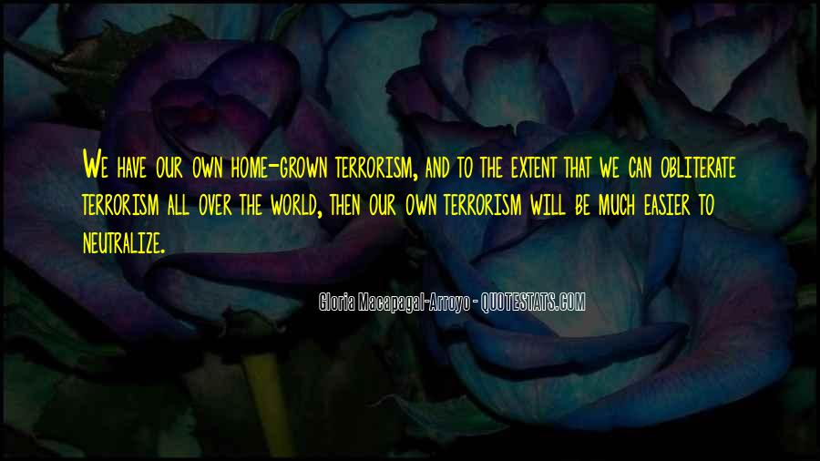 Quotes About Terrorism #90779