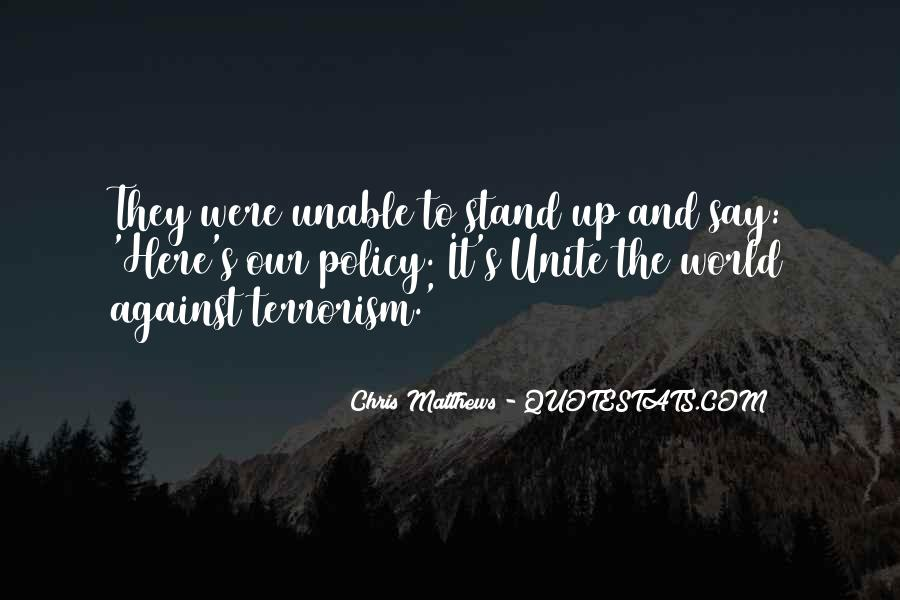 Quotes About Terrorism #98516