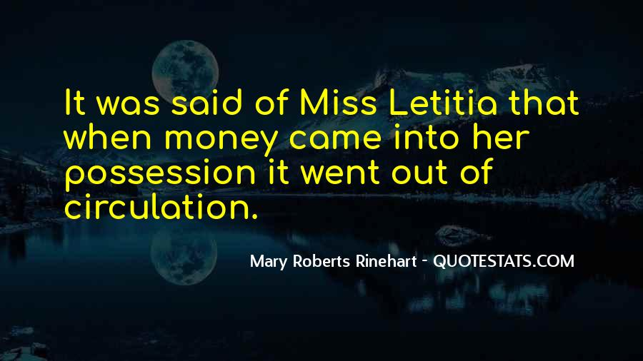 Quotes About Missing Money #1062055