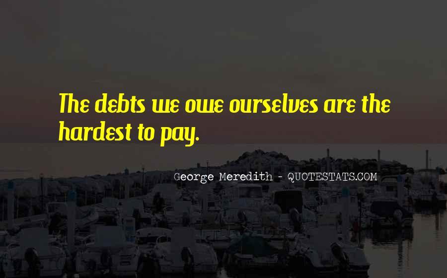 Quotes About Debts #126332