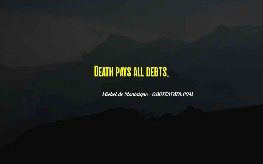 Quotes About Debts #144372