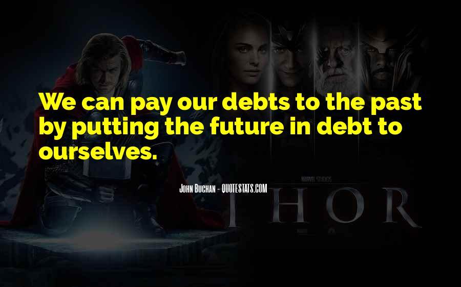 Quotes About Debts #166932