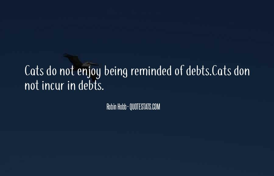 Quotes About Debts #258335