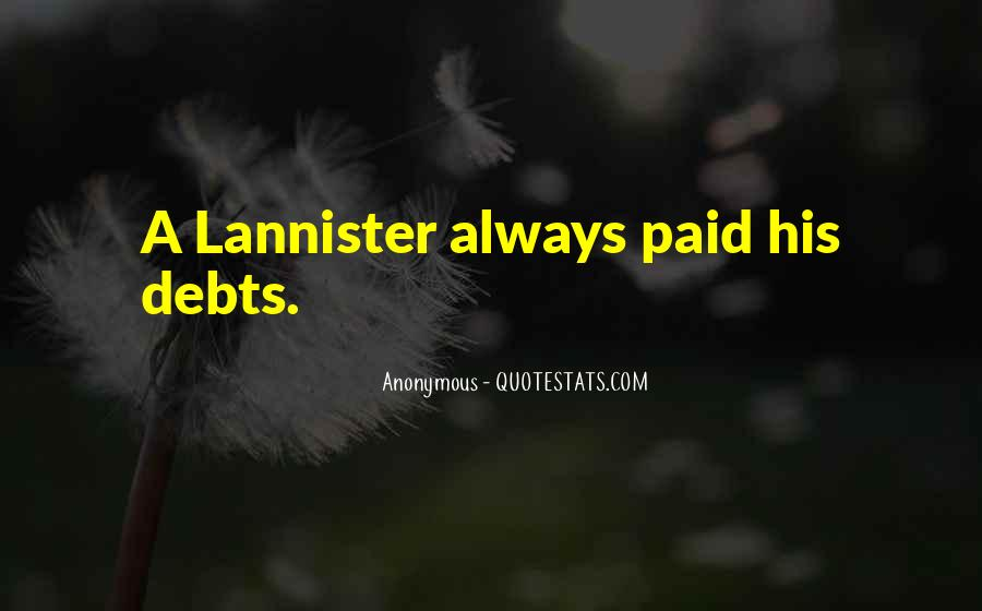 Quotes About Debts #269802