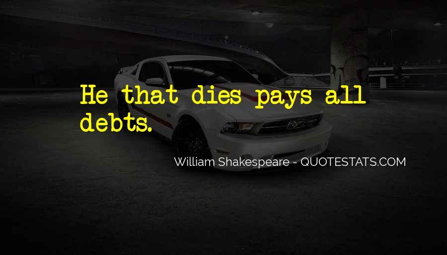 Quotes About Debts #284714