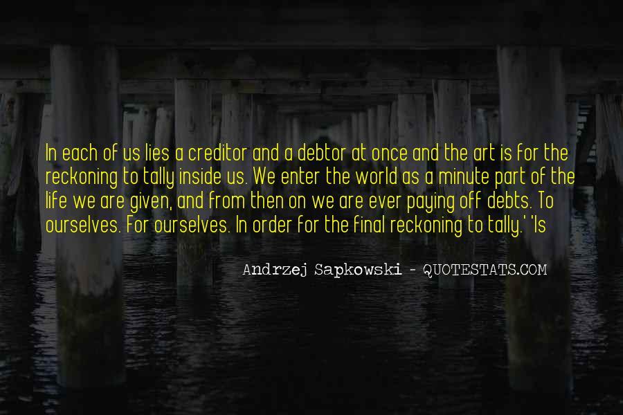 Quotes About Debts #320552