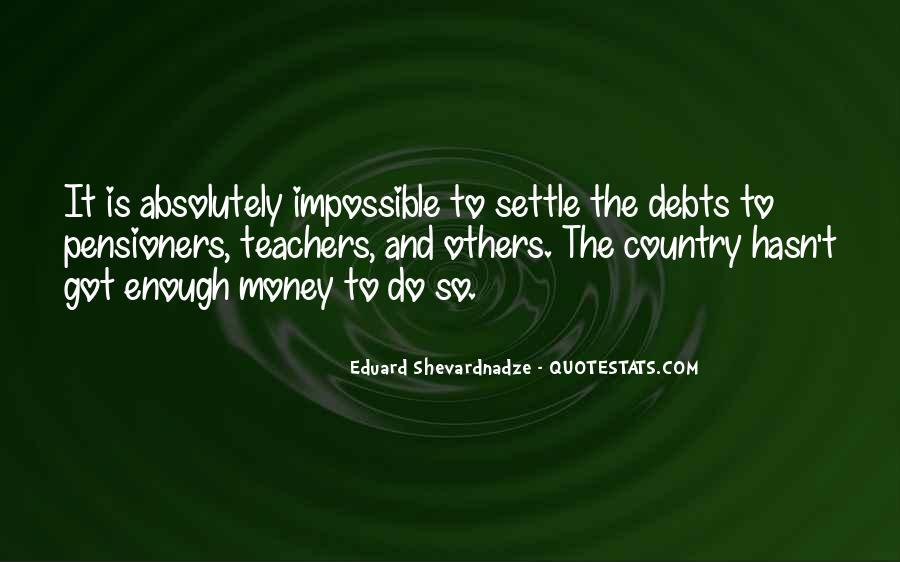 Quotes About Debts #355661