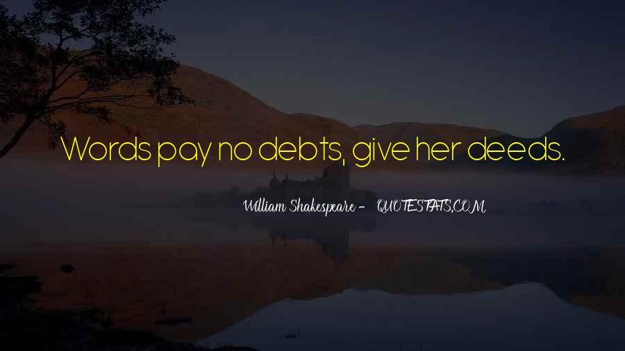 Quotes About Debts #387496