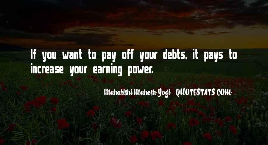 Quotes About Debts #402163