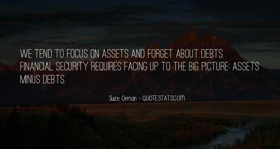 Quotes About Debts #451253