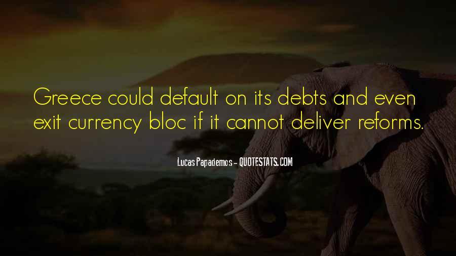 Quotes About Debts #495108