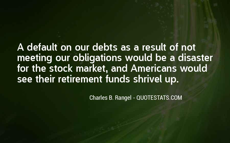 Quotes About Debts #661241