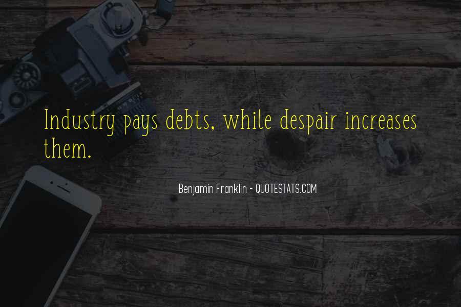 Quotes About Debts #675826