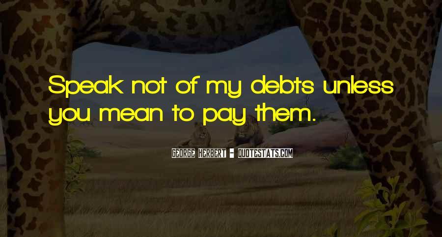 Quotes About Debts #683320