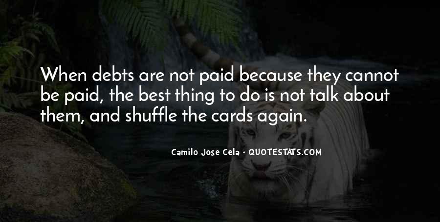 Quotes About Debts #69005