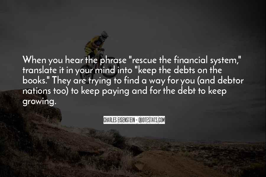 Quotes About Debts #81313