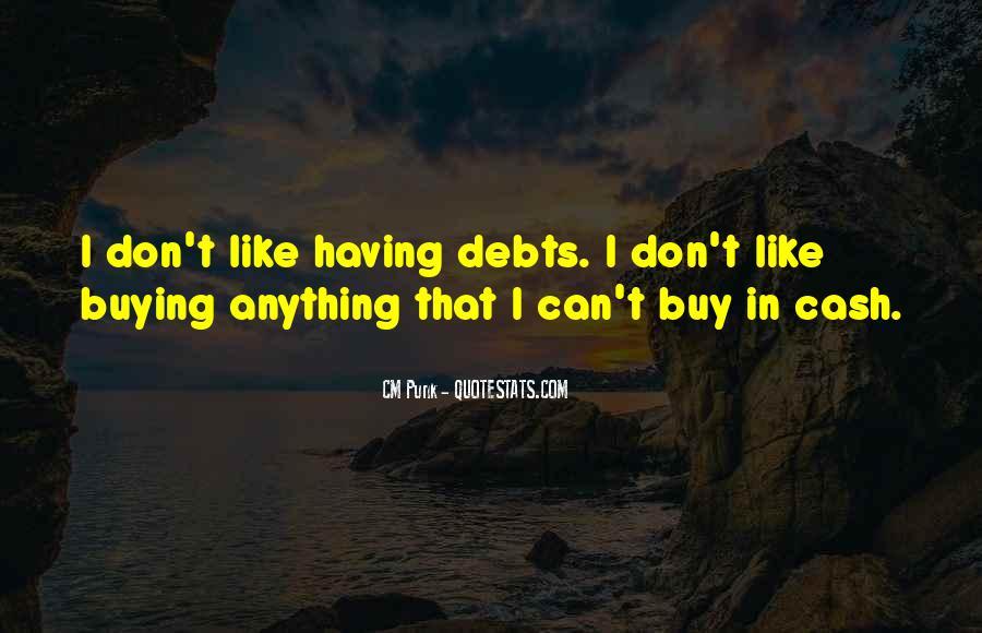 Quotes About Debts #92436