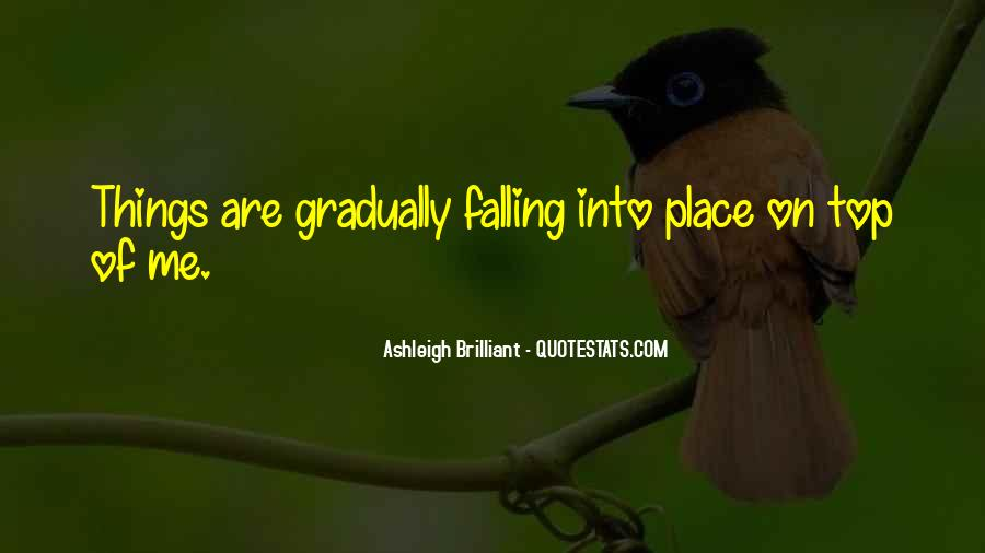 Quotes About Things Falling Into Place #186199