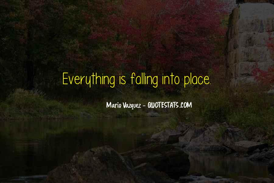 Quotes About Things Falling Into Place #710019