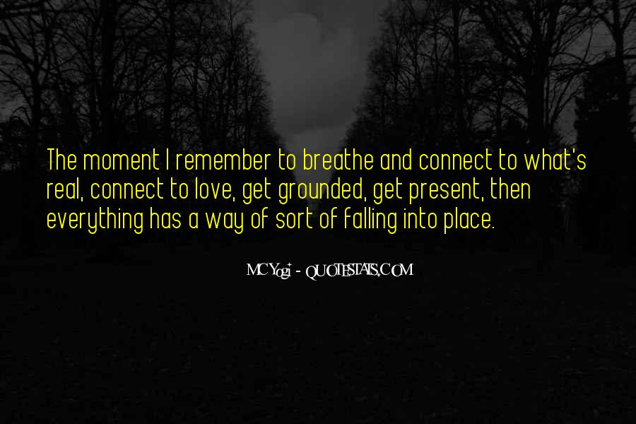 Quotes About Things Falling Into Place #723497