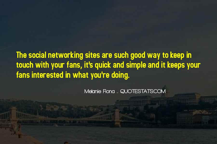Quotes About Networking Sites #179547