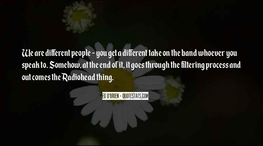Quotes About We Are Different #139478