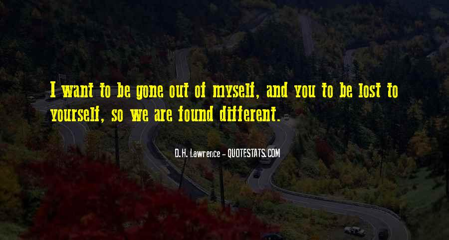 Quotes About We Are Different #17287
