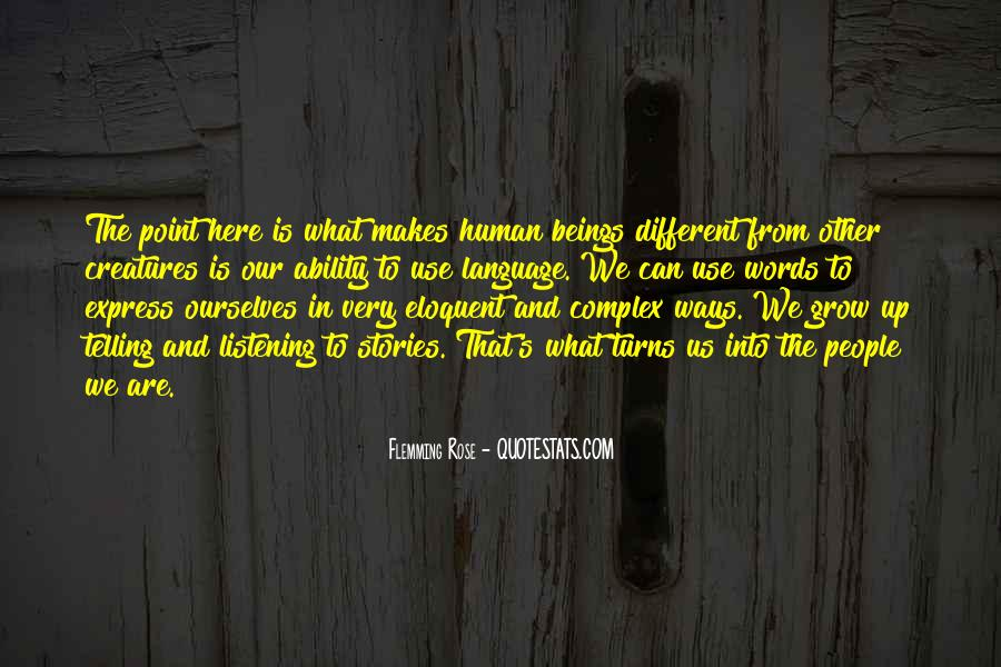 Quotes About We Are Different #95991