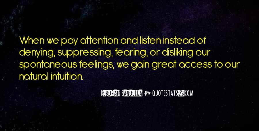 Quotes About Suppressing Feelings #166480
