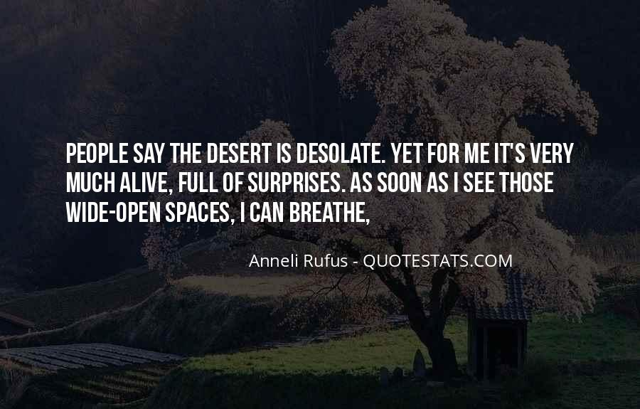 Quotes About Open Spaces #1029648
